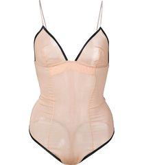 kiki de montparnasse idole sheer bodysuit - pink
