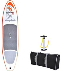 blue wave sports stingray 11' inflatable stand up paddleboard and hand pump