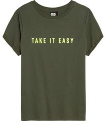 t-shirt take it easy olive tree