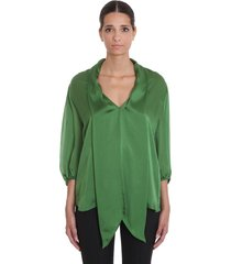alexandre vauthier blouse in green silk