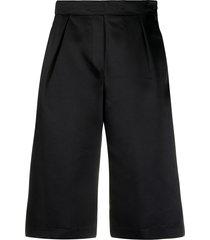 8pm pleated knee-length shorts - black