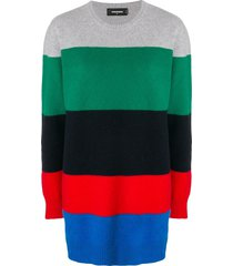 dsquared2 striped loose fit dress - multicolour
