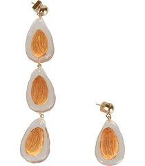 jacquemus crystal loop earrings