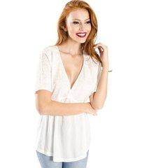 blusa ampla cantão feminino