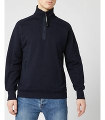 c.p. company men's quarter zip sweatshirt - total eclipse - xxl