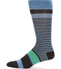 thin & thick stripe crew socks