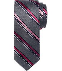 awearness kenneth cole pink & gray stripe narrow tie