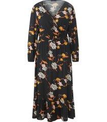 maxi-jurk met lange mouwen van emilia lay zwart