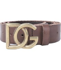 dolce & gabbana brown belt