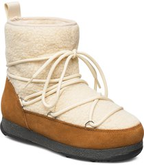 snowflake pile shoes boots ankle boots ankle boots flat heel beige svea