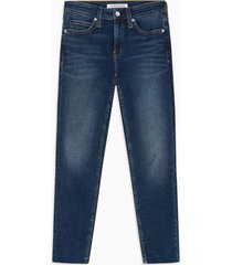 jeans mid rise skinny ankle azul calvin klein