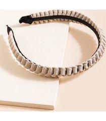 women's aaron braided loop headband in ivory by francesca's - size: one size