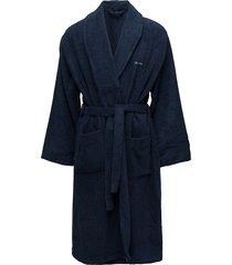 terry robe ochtendjas badjas blauw gant