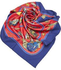 hermes quimport le flacon silk scarf red sz: