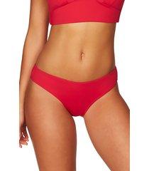 women's sea level bikini bottoms, size 14 - red