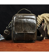 vintage vera pelle outdoor travel shouder borsa crossbody borsa per gli uomini