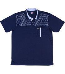 camiseta tipo polo azul oscuro puntazul