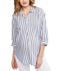 pietro brunelli milano maternity pullover split-neck blouse