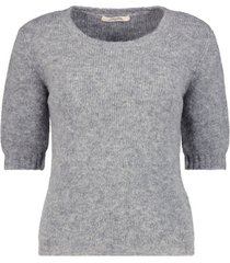 puffed sleeves knit top