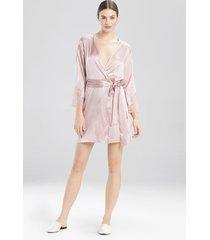sleek sleep & lounge bath wrap robe, women's, silk, size m, josie natori