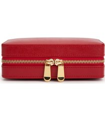 wolf palermo zip jewelry case - red