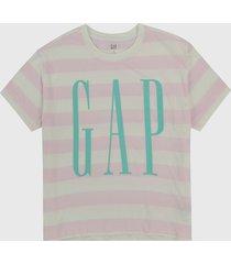 camiseta rosa-fucsia gap