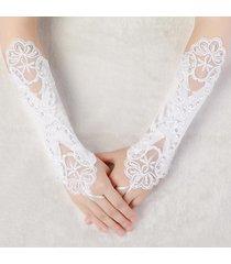 abito da sposa da donna senza dita ricamato guanti