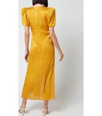 rotate birger christensen women's alma dress - spicy mustard - dk 38/uk 12