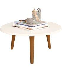 mesa de centro estilo retrô off-white móveis bechara