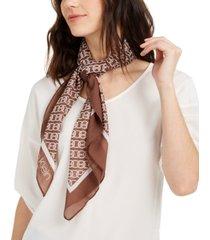 calvin klein chain-print chiffon square scarf