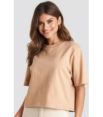 na-kd basic oversize t-shirt - beige
