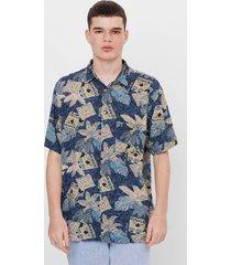 overhemd met tropische print