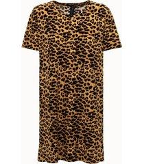 norma kamali abito boxy in tessuto leopard