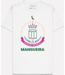 camiseta estampada brasao mangueira reserva - masculino