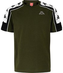 camiseta kappa 10 arset - verde/negro/blanco