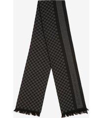 jacquard scarf black 1