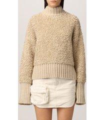 the attico sweater the attico pullover in wool and alpaca