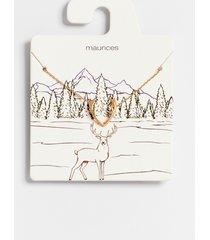 maurices womens dainty deer antler necklace