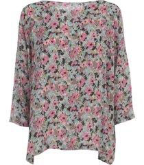 m missoni wide round neck l/s sweater w/flowers printing