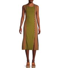 alexia admor women's colorblock sleeveless dress - black multi - size xs