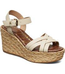 darline sandalette med klack espadrilles brun sam edelman