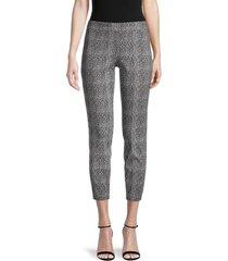 nanette nanette lepore women's textured stretch pants - cannoli black - size xs