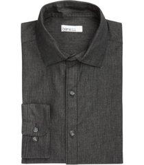 bar iii men's organic cotton denim-style slim fit dress shirt, created for macy's