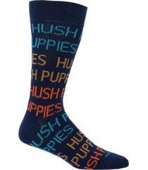 calcetín algodón logo azul hombre hush puppies