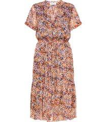 dhwill primo dress jurk knielengte multi/patroon denim hunter