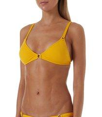 women's melissa odabash montenegro bikini top, size 10 - orange