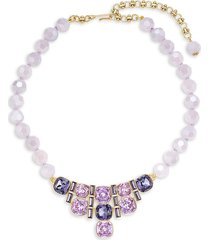 heidi daus women's goldtone & crystal statement necklace