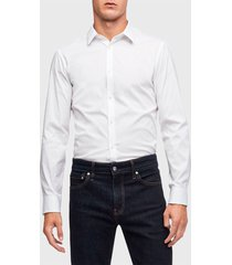 camisa calvin klein ml blanco - calce slim fit