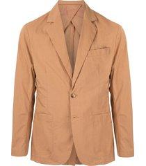 venroy fitted poplin blazer - brown