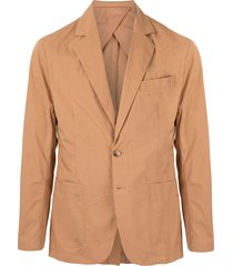 venroy fitted poplin blazer - brown